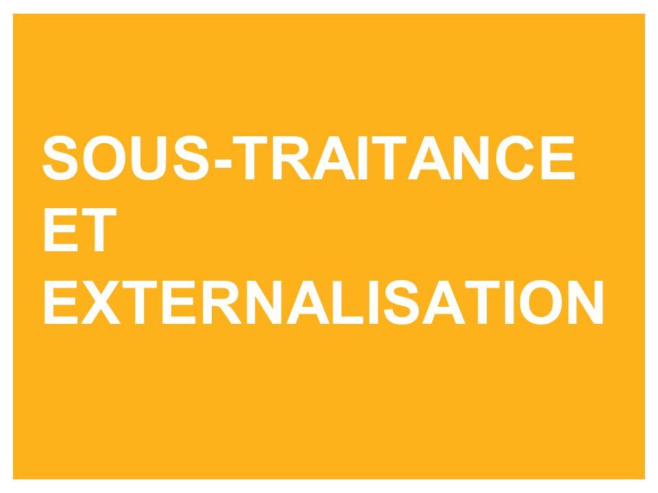 SOUS-TRAITANCE ET EXTERNALISATION