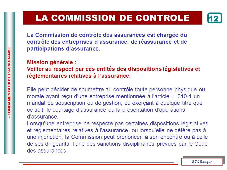 LA COMMISSION DE CONTROLE