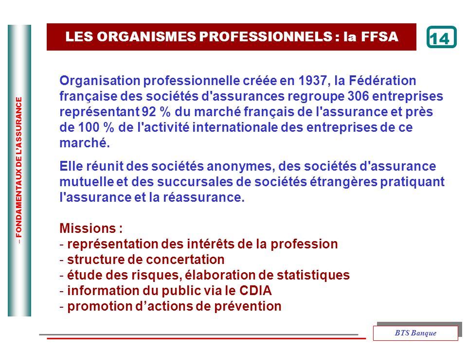 LES ORGANISMES PROFESSIONNELS : la FFSA