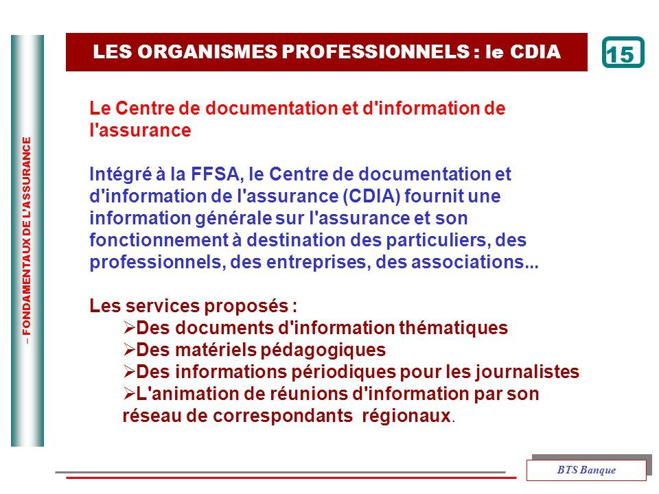 LES ORGANISMES PROFESSIONNELS : le CDIA