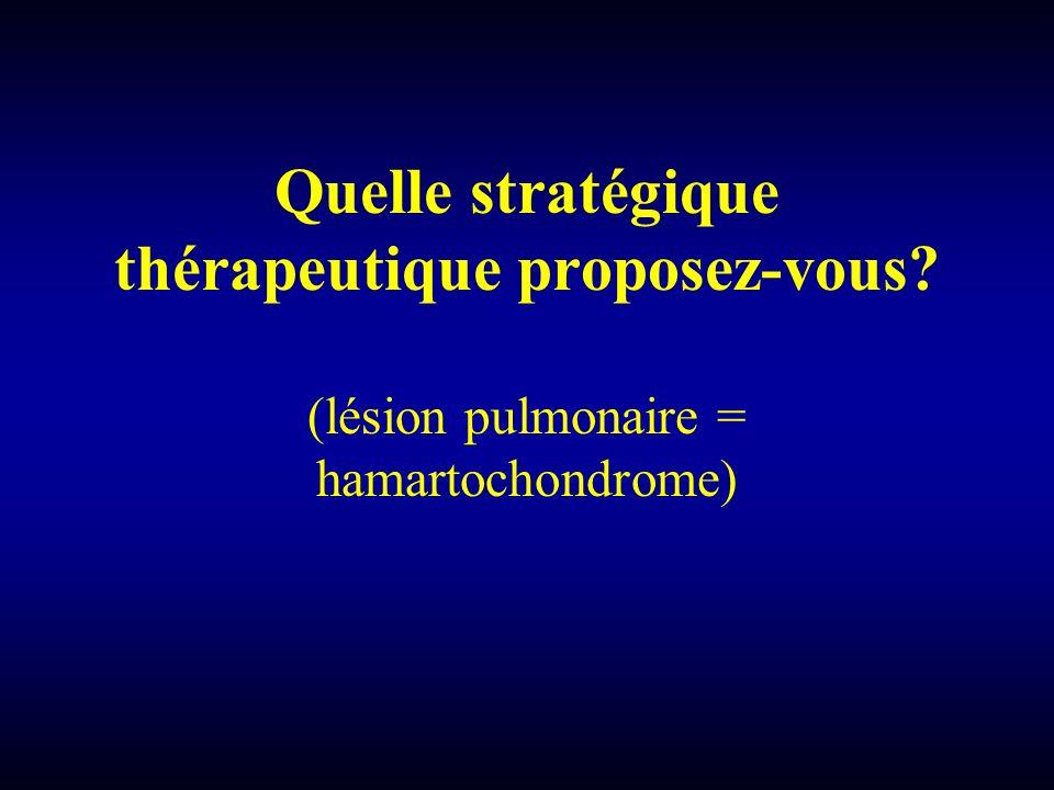 Quelle stratégique thérapeutique proposez-vous