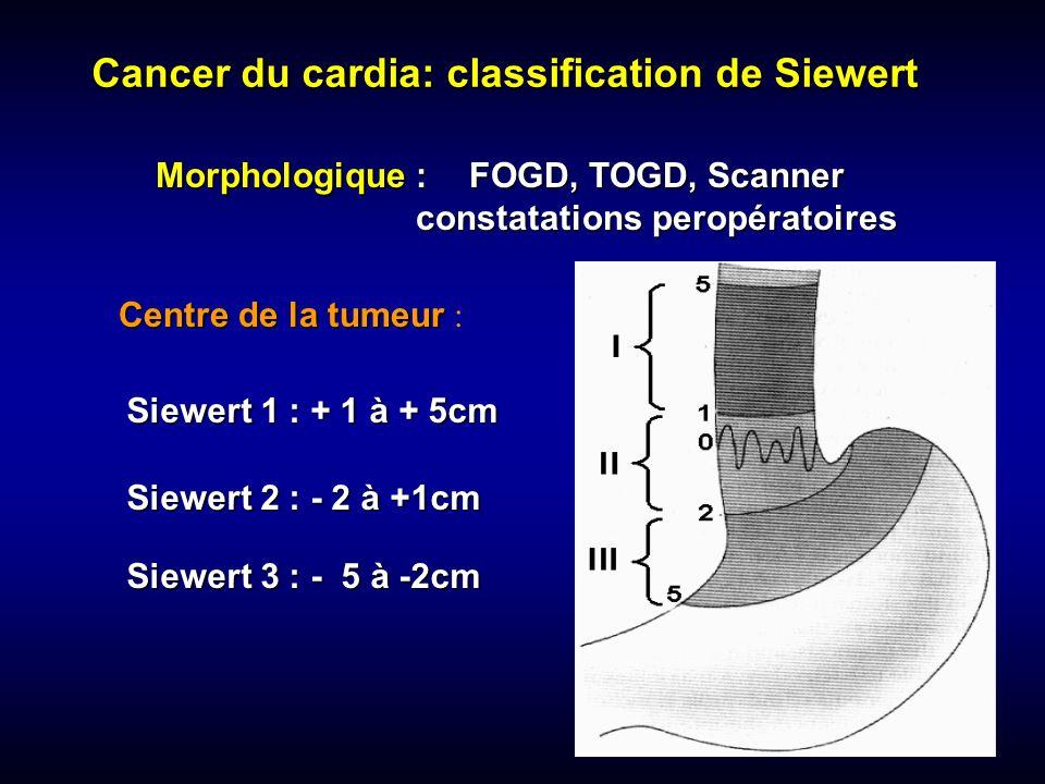 Morphologique : FOGD, TOGD, Scanner constatations peropératoires