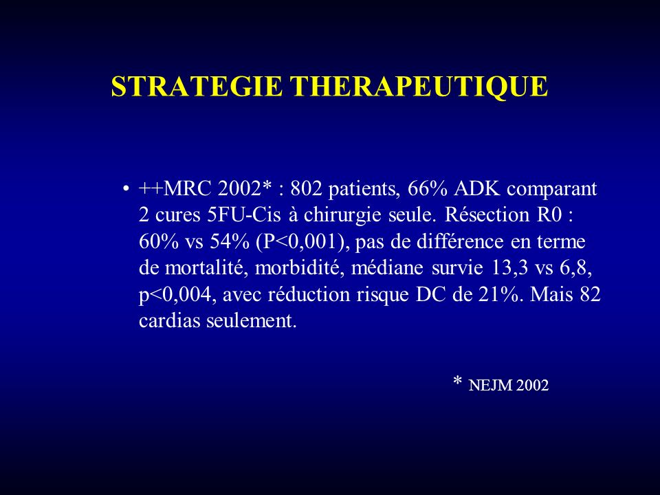 STRATEGIE THERAPEUTIQUE