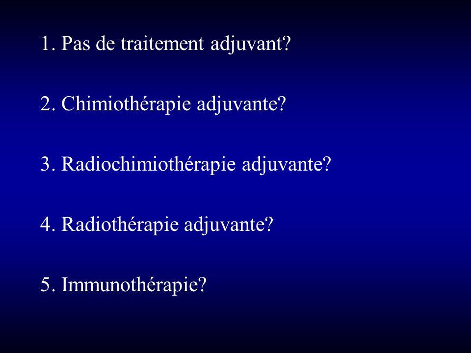 1. Pas de traitement adjuvant