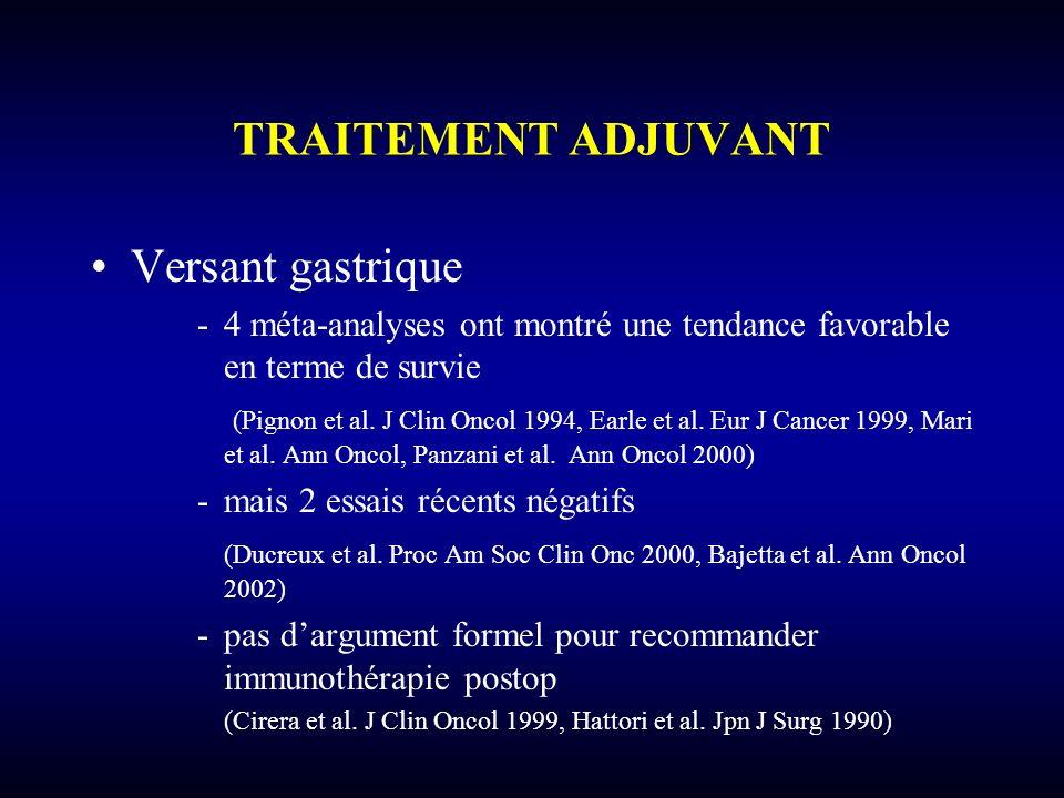 TRAITEMENT ADJUVANT Versant gastrique