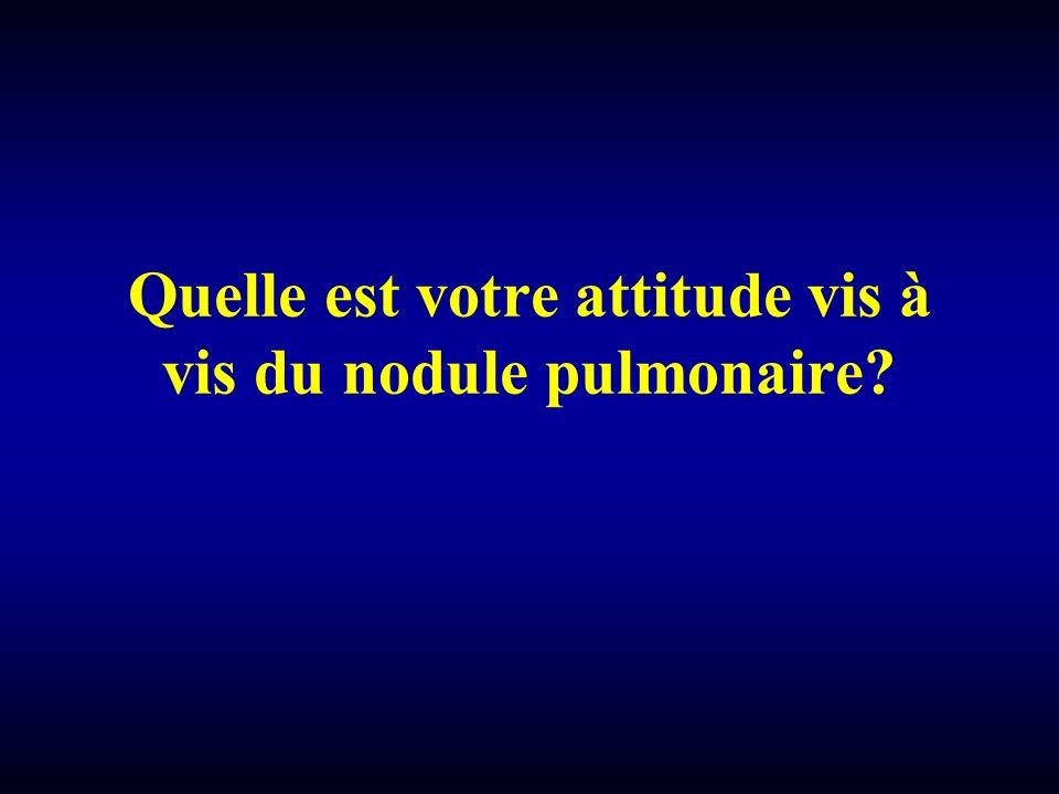 Quelle est votre attitude vis à vis du nodule pulmonaire