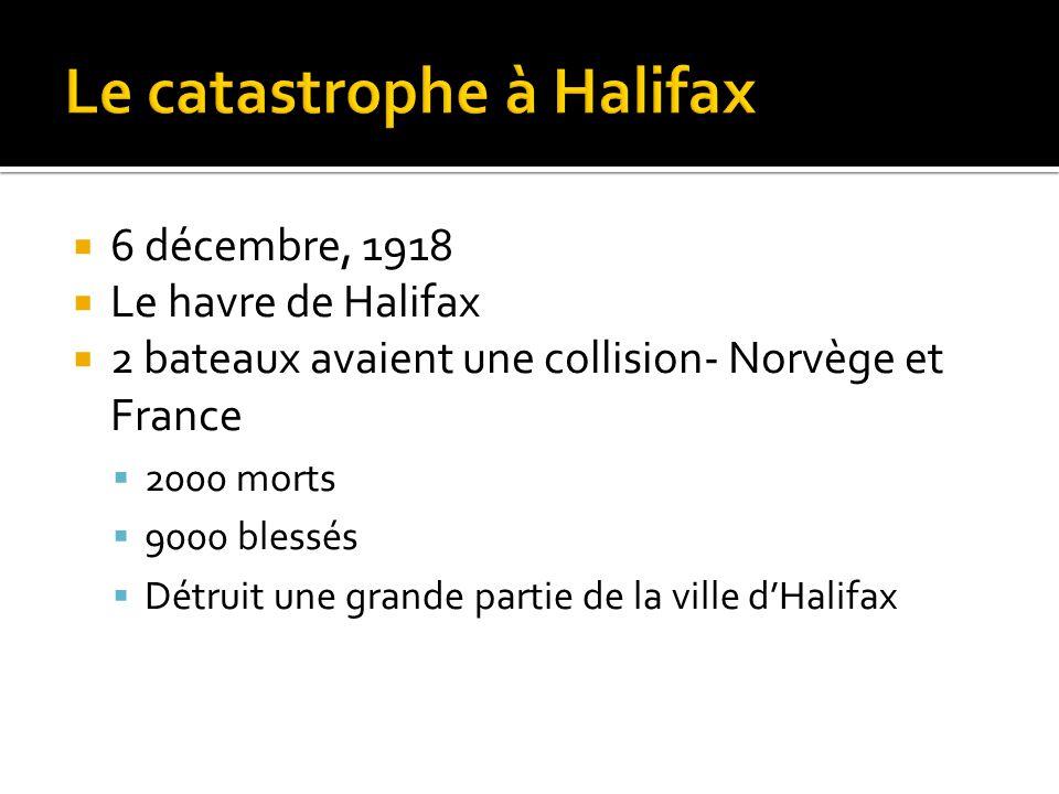 Le catastrophe à Halifax