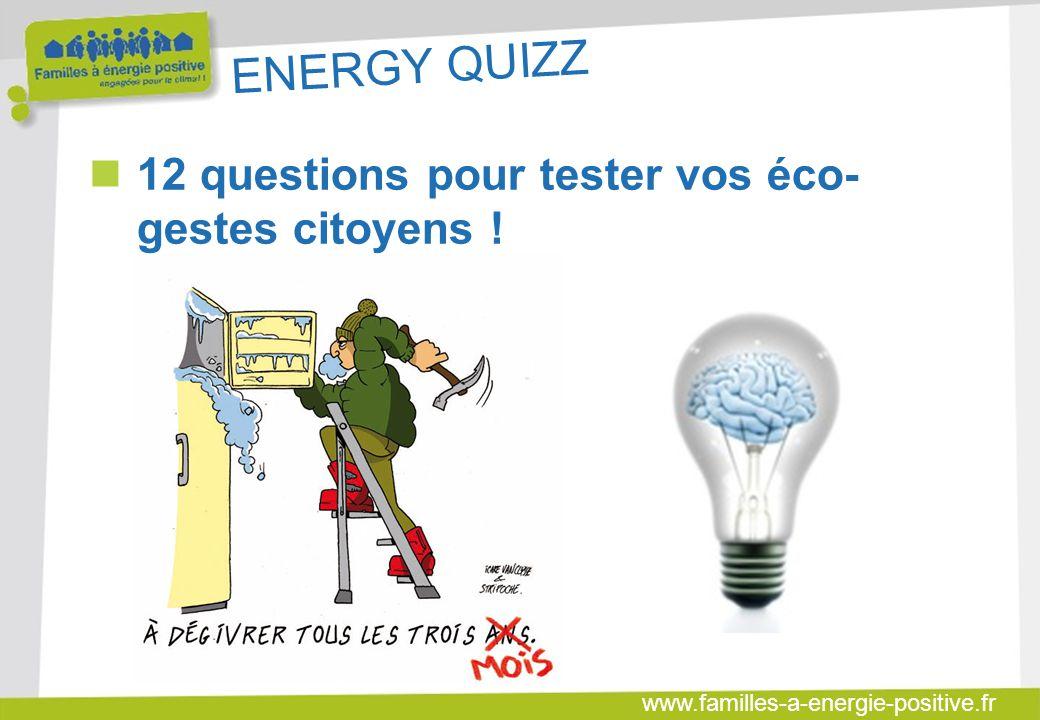 ENERGY QUIZZ 12 questions pour tester vos éco-gestes citoyens !