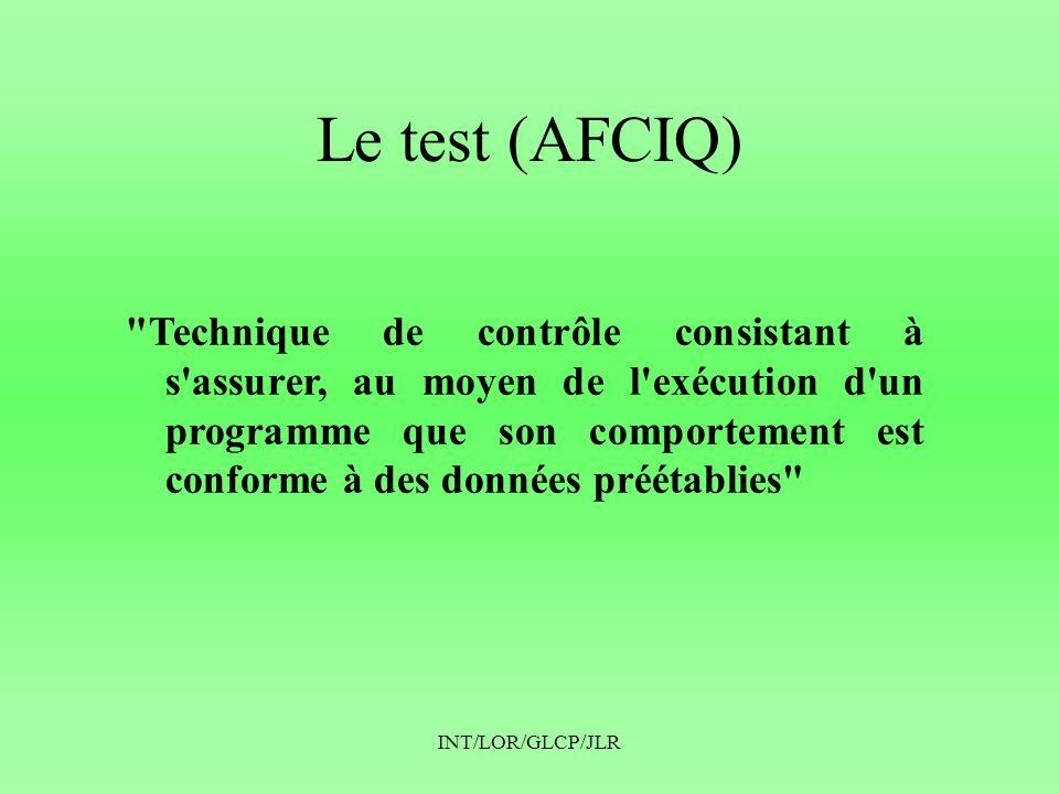 Le test (AFCIQ)