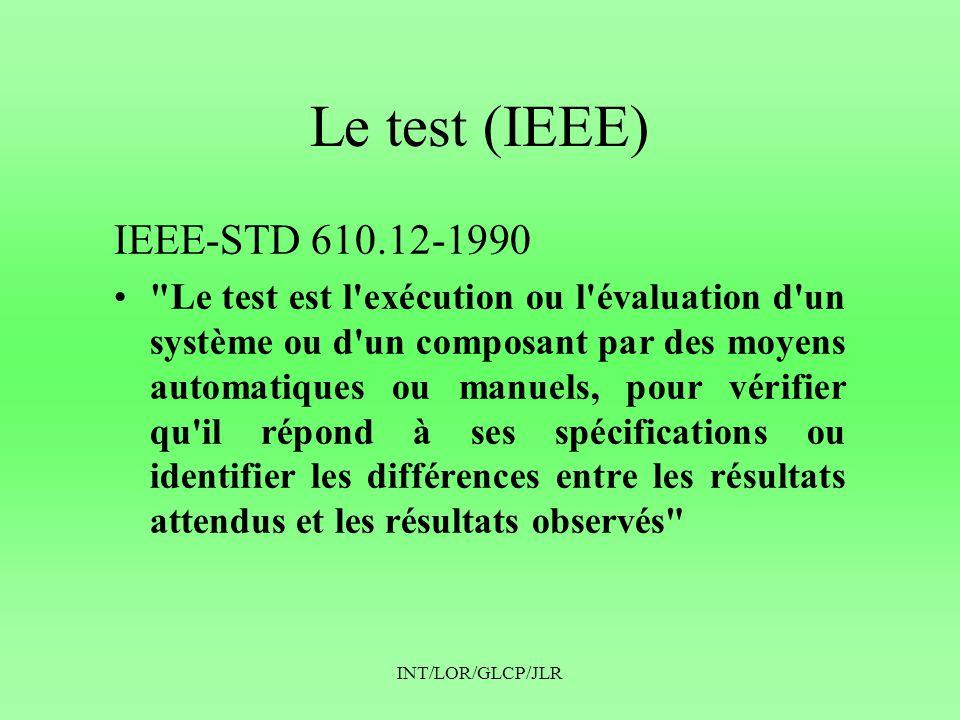 Le test (IEEE) IEEE-STD 610.12-1990