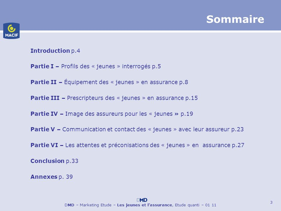Sommaire Introduction p.4