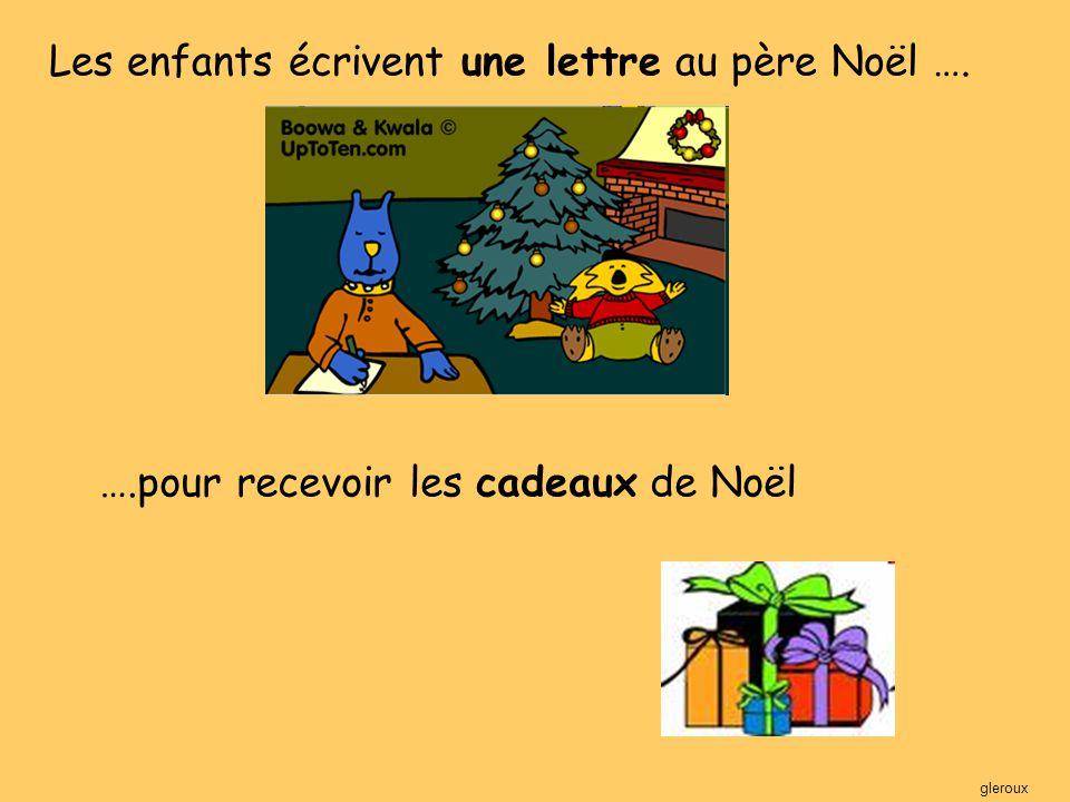 Les enfants écrivent une lettre au père Noël ….