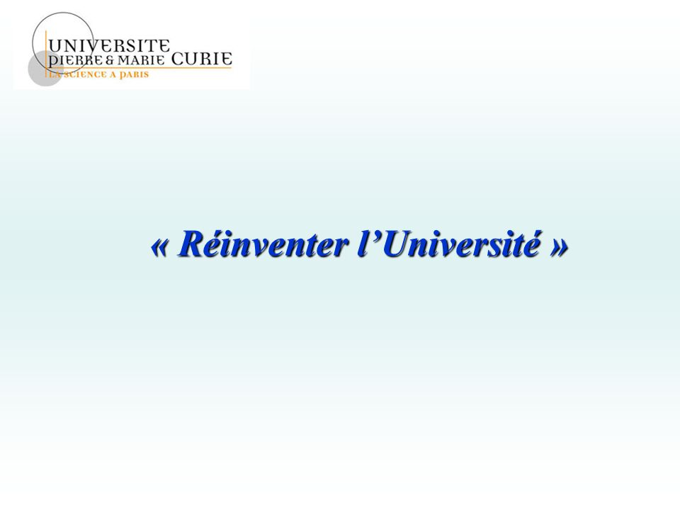 « Réinventer l'Université »