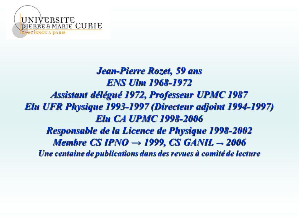 Assistant délégué 1972, Professeur UPMC 1987