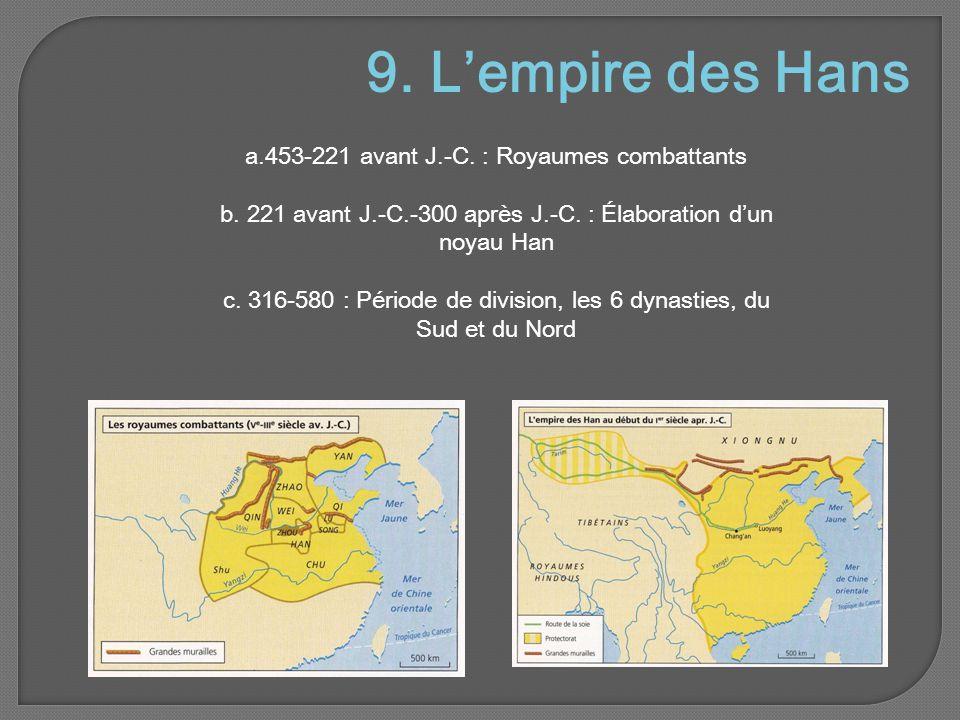 9. L'empire des Hans a.453-221 avant J.-C. : Royaumes combattants