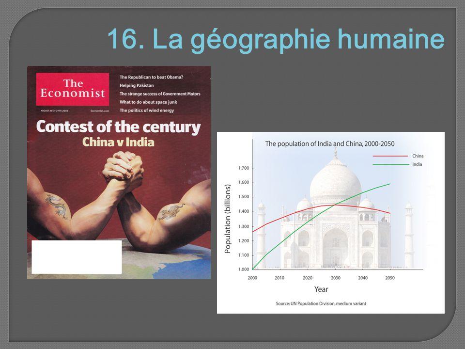 16. La géographie humaine