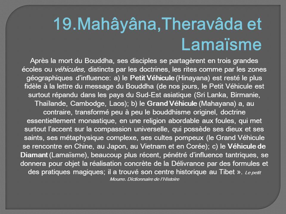 19.Mahâyâna,Theravâda et Lamaïsme