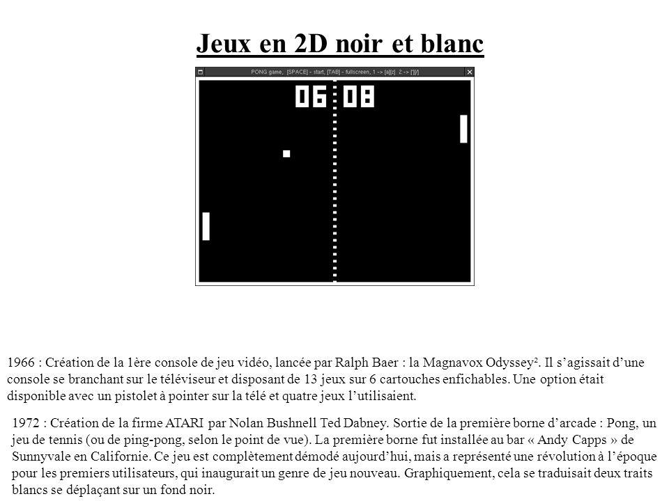 Jeux en 2D noir et blanc