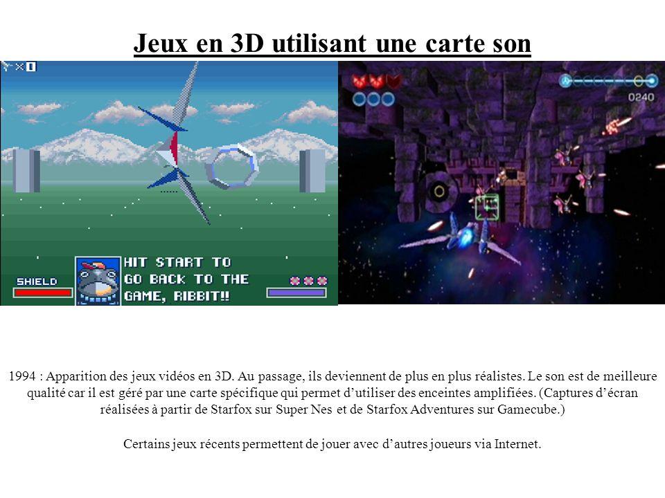 Jeux en 3D utilisant une carte son