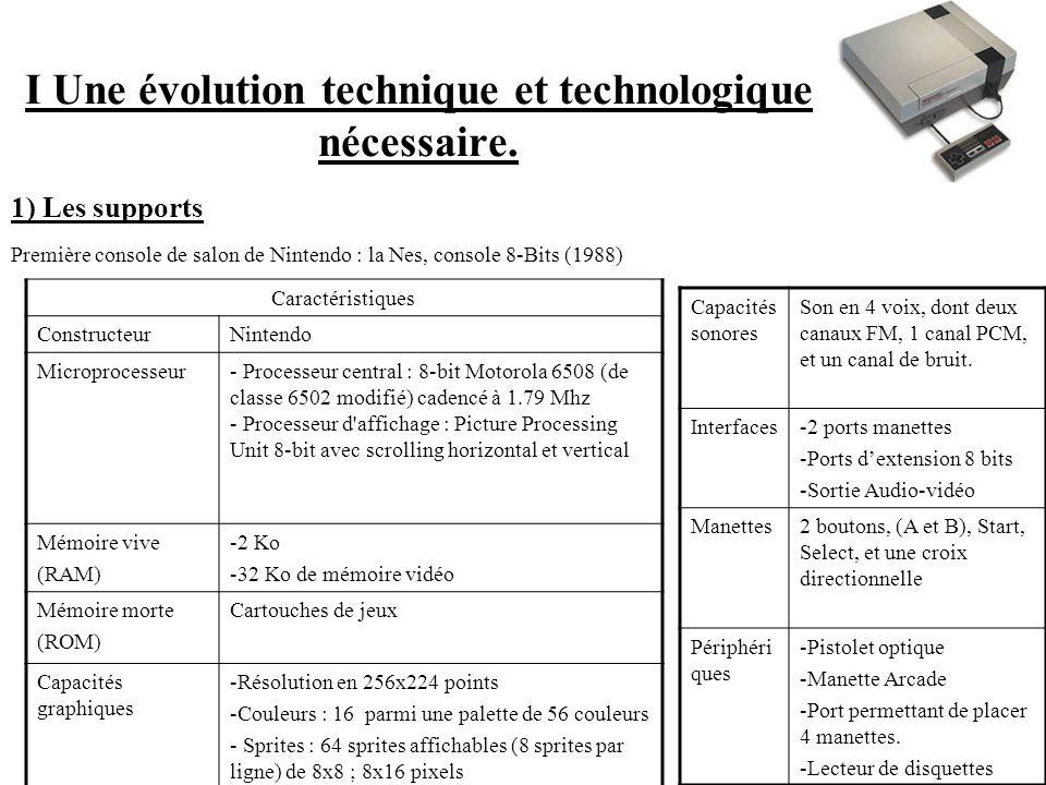 I Une évolution technique et technologique nécessaire.