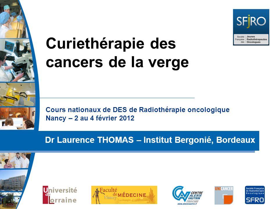 Curiethérapie des cancers de la verge