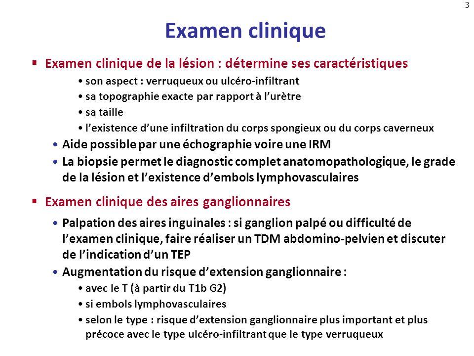Examen clinique Examen clinique de la lésion : détermine ses caractéristiques. son aspect : verruqueux ou ulcéro-infiltrant.