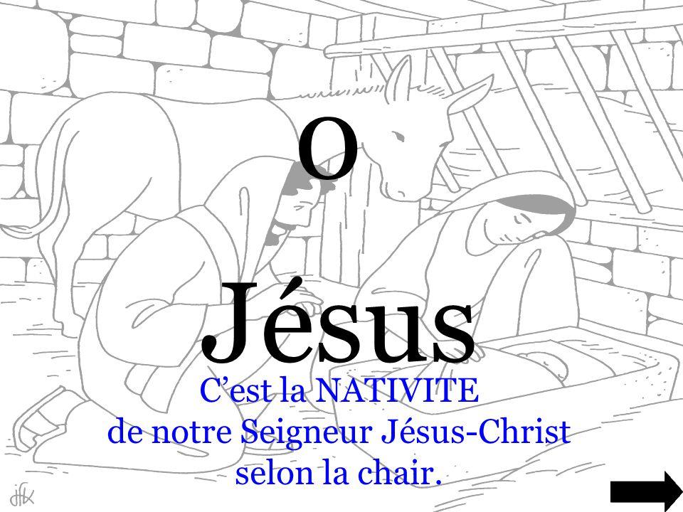 C'est la NATIVITE de notre Seigneur Jésus-Christ selon la chair.