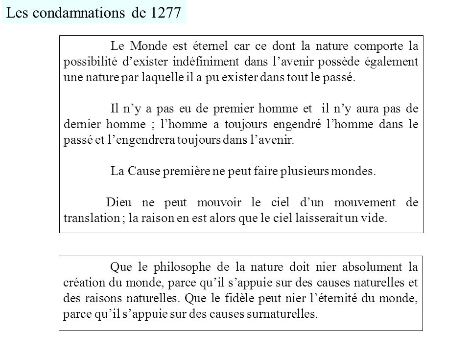 Les condamnations de 1277