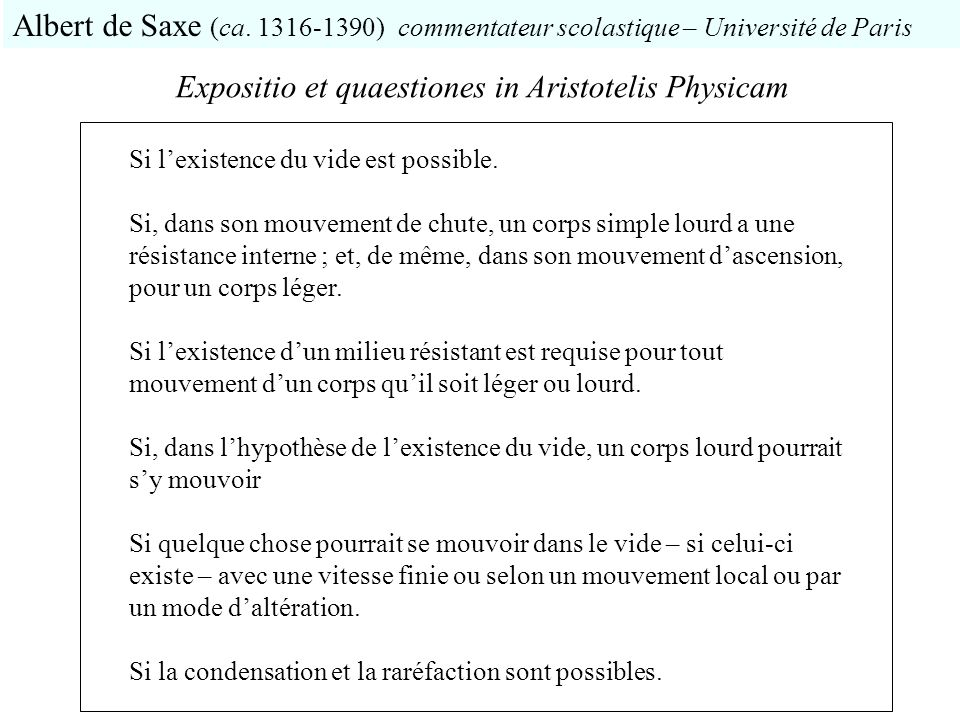 Expositio et quaestiones in Aristotelis Physicam
