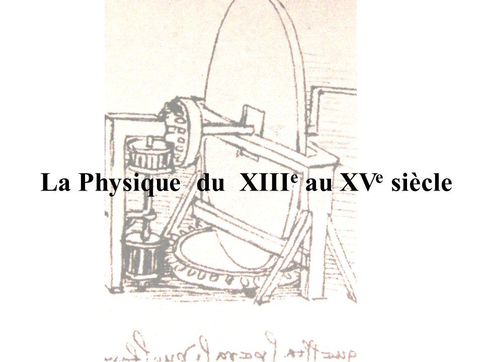 La Physique du XIIIe au XVe siècle