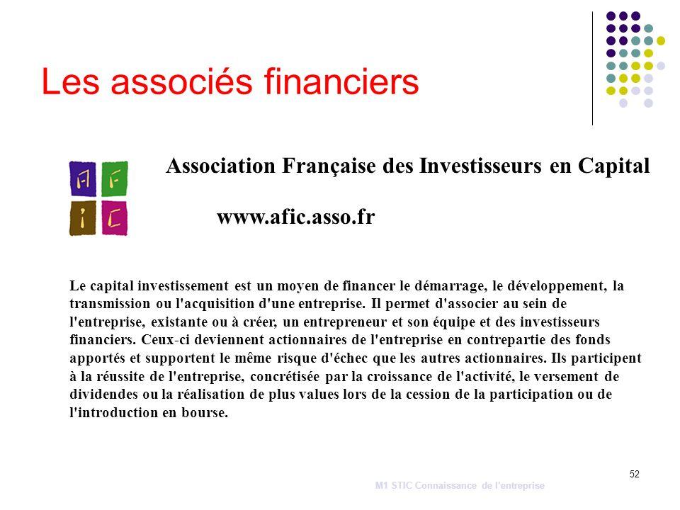 Les associés financiers