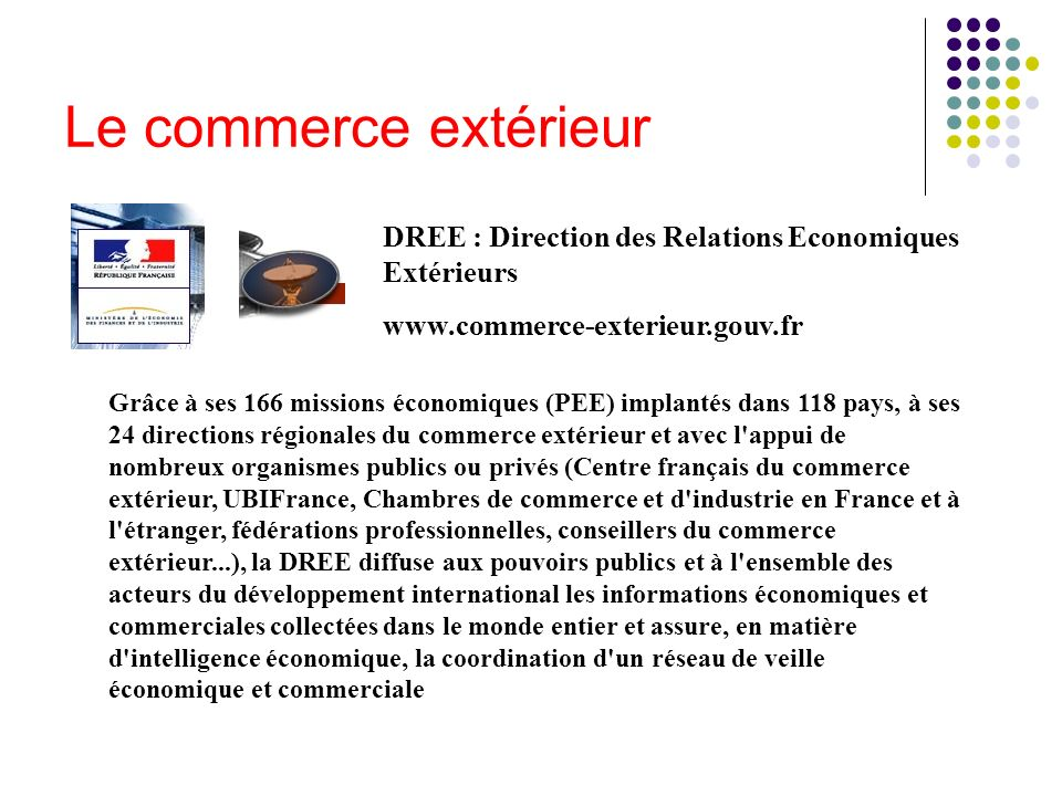 Connaissance de l entreprise ppt t l charger for Commerce exterieur gouv fr