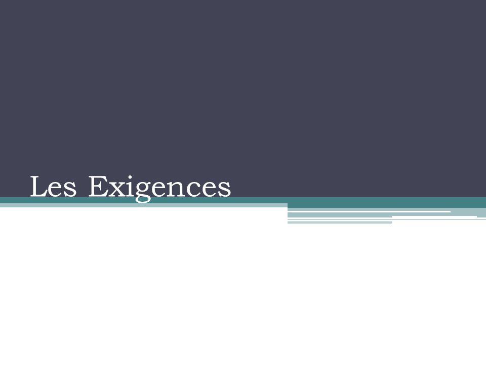 Les Exigences