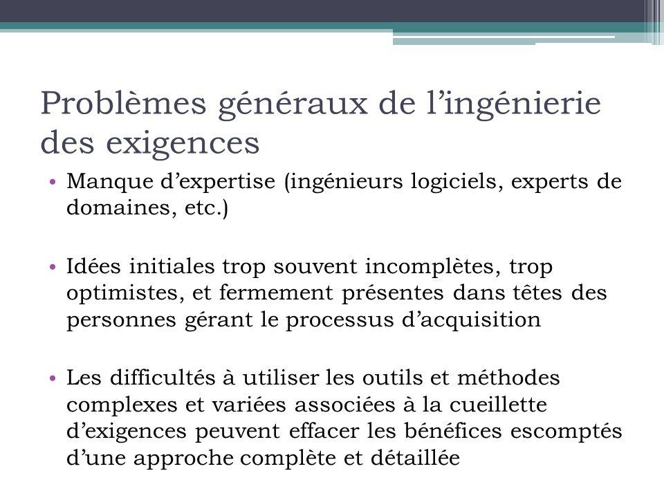 Problèmes généraux de l'ingénierie des exigences