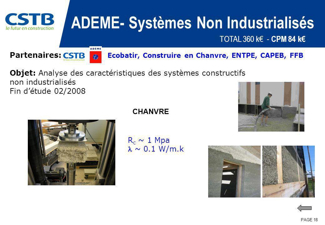 ADEME- Systèmes Non Industrialisés