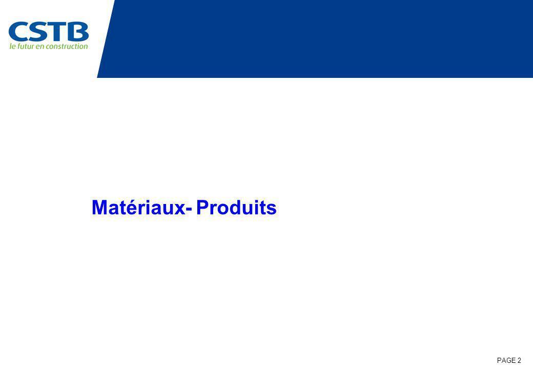 Matériaux- Produits