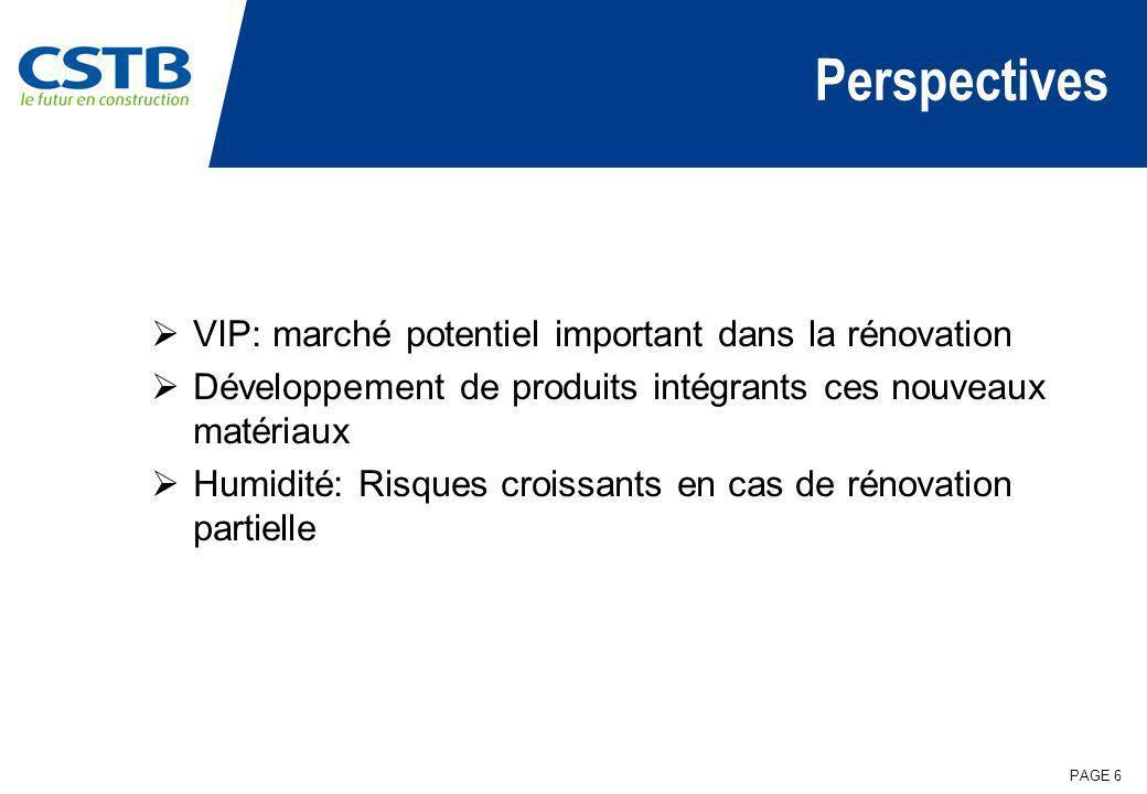 Perspectives VIP: marché potentiel important dans la rénovation