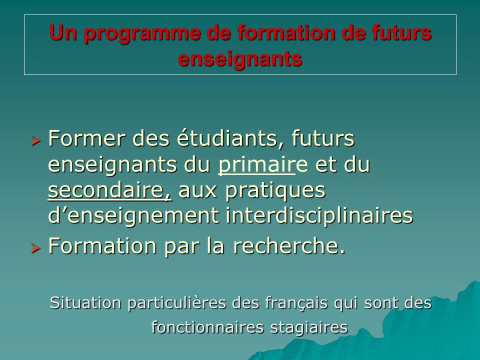 Un programme de formation de futurs enseignants