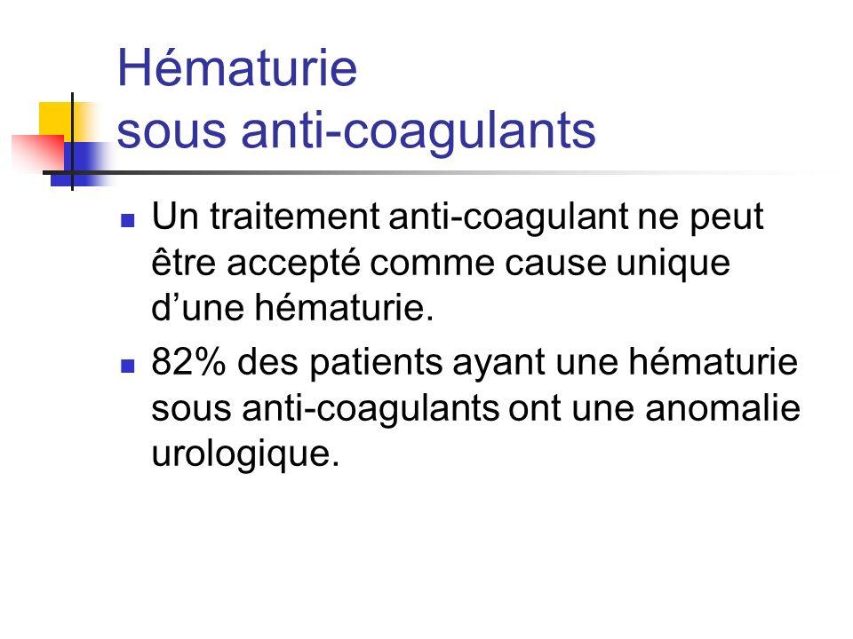 Hématurie sous anti-coagulants