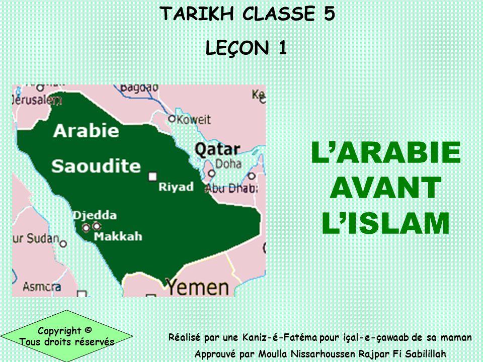 L'ARABIE AVANT L'ISLAM