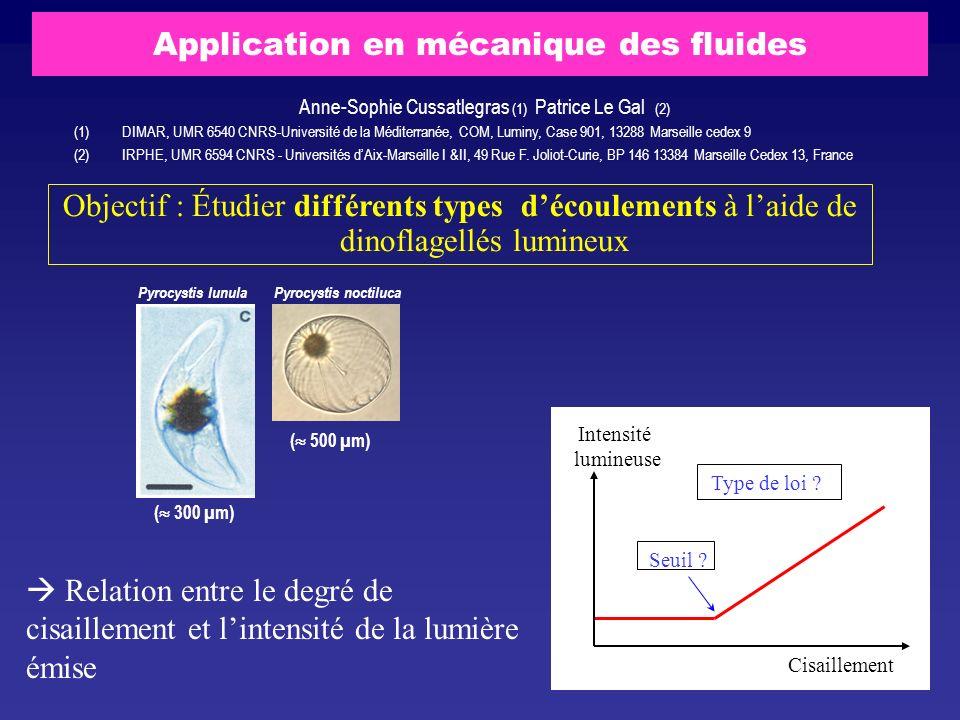 Application en mécanique des fluides