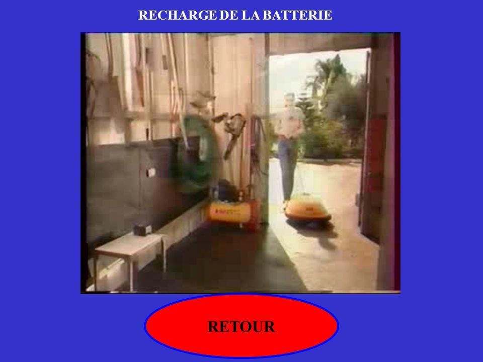 RECHARGE DE LA BATTERIE