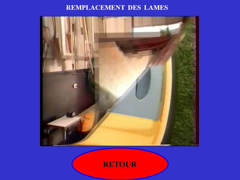 REMPLACEMENT DES LAMES
