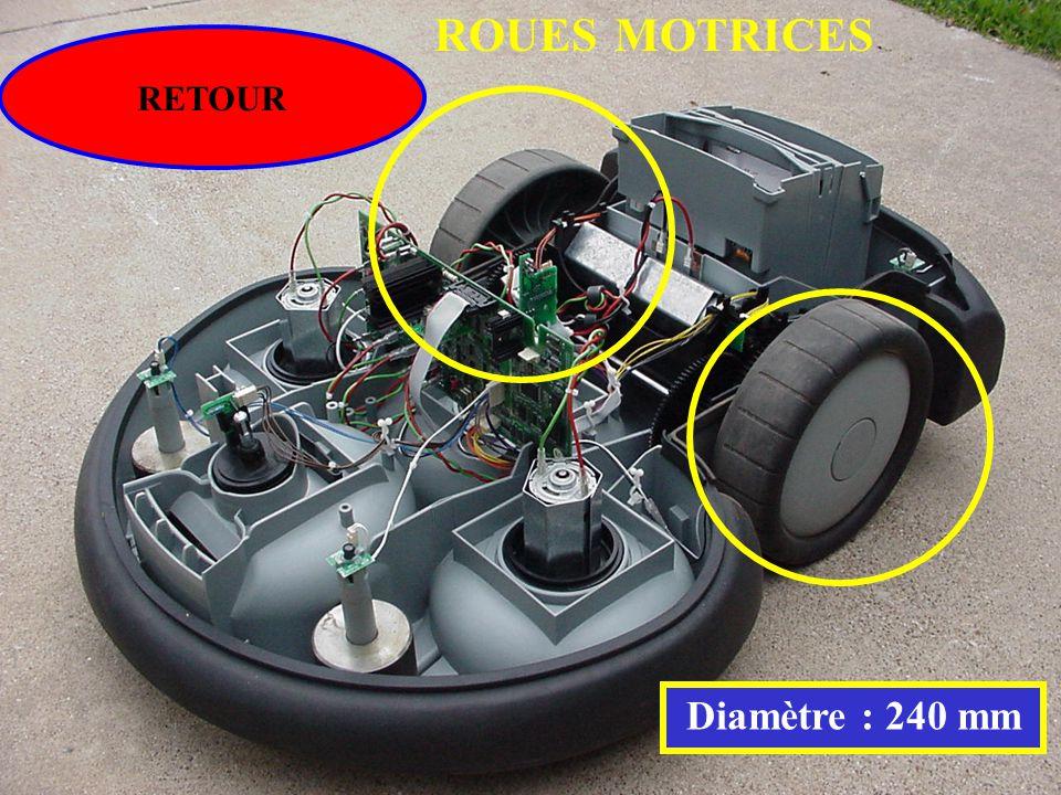ROUES MOTRICES RETOUR Diamètre : 240 mm