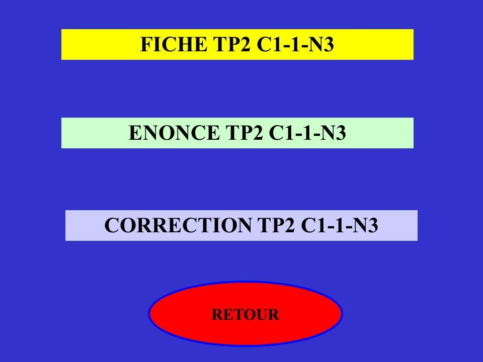 FICHE TP2 C1-1-N3 ENONCE TP2 C1-1-N3 CORRECTION TP2 C1-1-N3