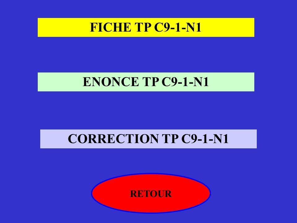 FICHE TP C9-1-N1 ENONCE TP C9-1-N1 CORRECTION TP C9-1-N1
