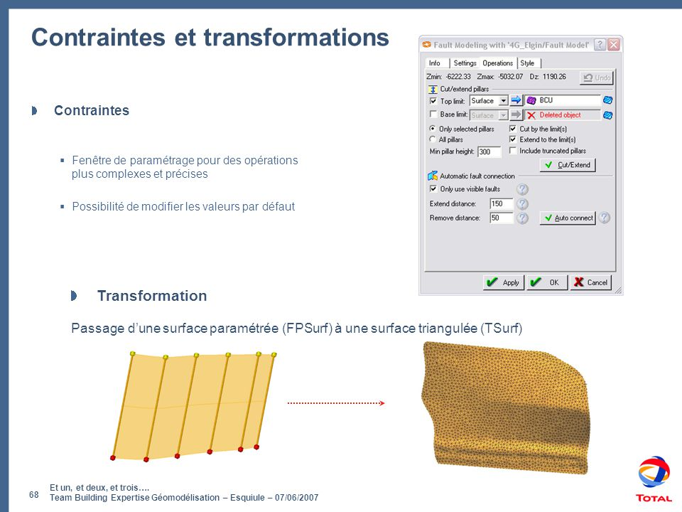 Contraintes et transformations