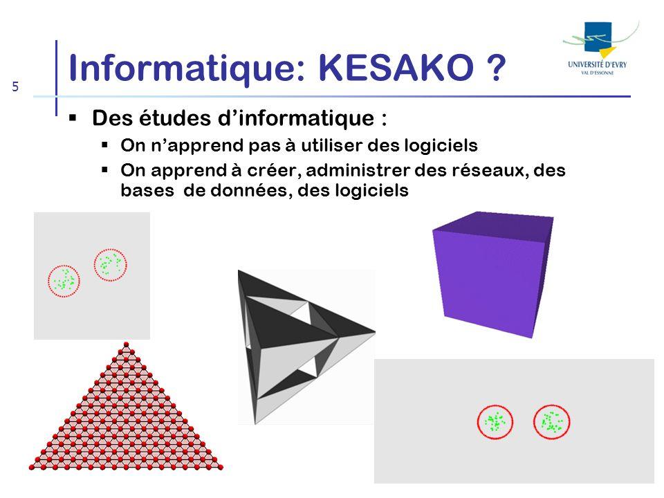 Informatique: KESAKO Des études d'informatique :