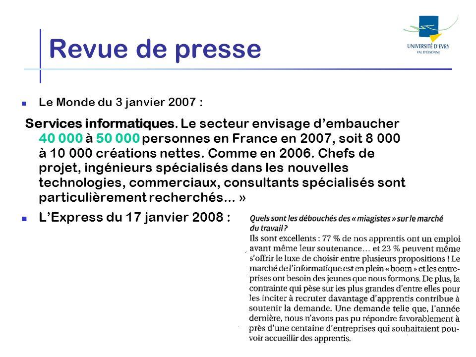 Revue de presseLe Monde du 3 janvier 2007 :