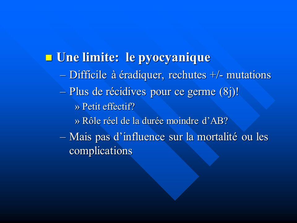 Une limite: le pyocyanique